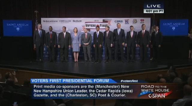 "The 2016 Republican Candidates ""Voters First Forum"""