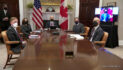 President Biden and Prime Minister Trudeau of Canada Before Virtual Bilateral Meeting